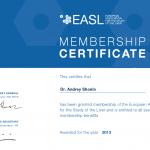 Сертификат EASL на 2013 год